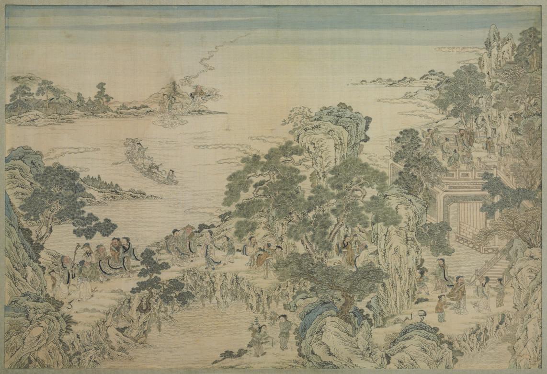 A LARGE KESI PANEL OF BUDDHIST