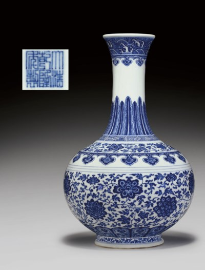 A FINE BLUE AND WHITE MING-STY