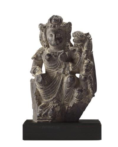 A stone figure of Hariti