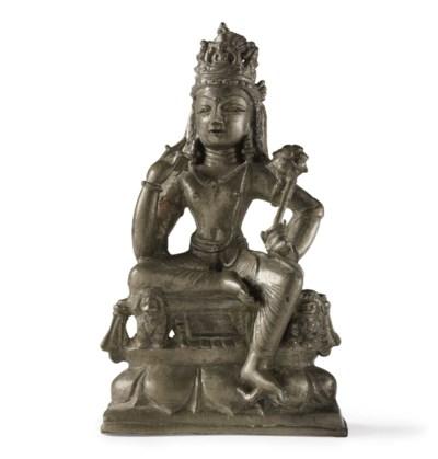 A bronze figure of Padmapani