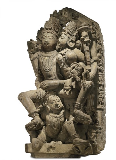 A buff sandstone stele of Vish