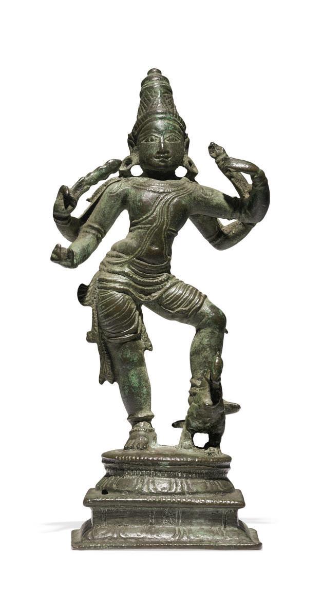 A small bronze figure of Karti