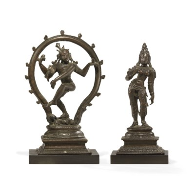 Two small bronze figures of Sh