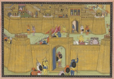 A folio from The Ramayana: The