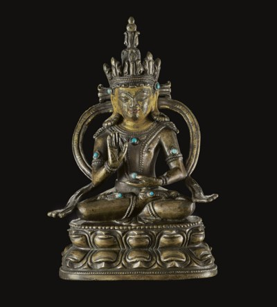 A Bronze Figure of Amoghasiddh