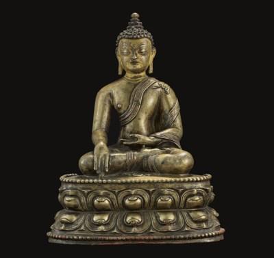 A Bronze Figure of Buddha Shak