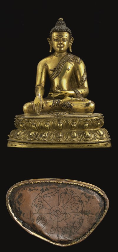 A Bronze Figure of Akshobhya