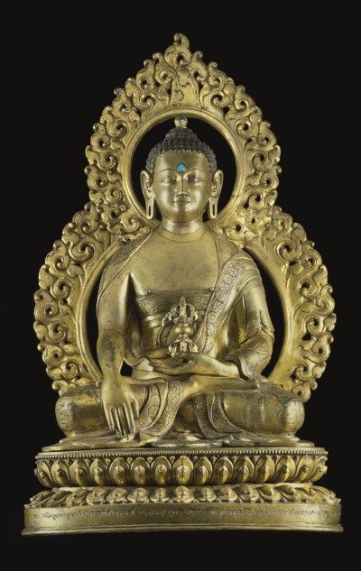 A Large Gilt Bronze Figure of