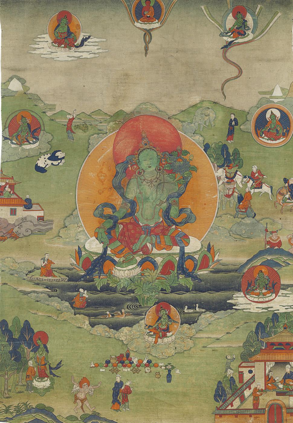 A thangka of Green Tara