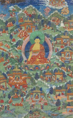 A thangka of Buddha with Life