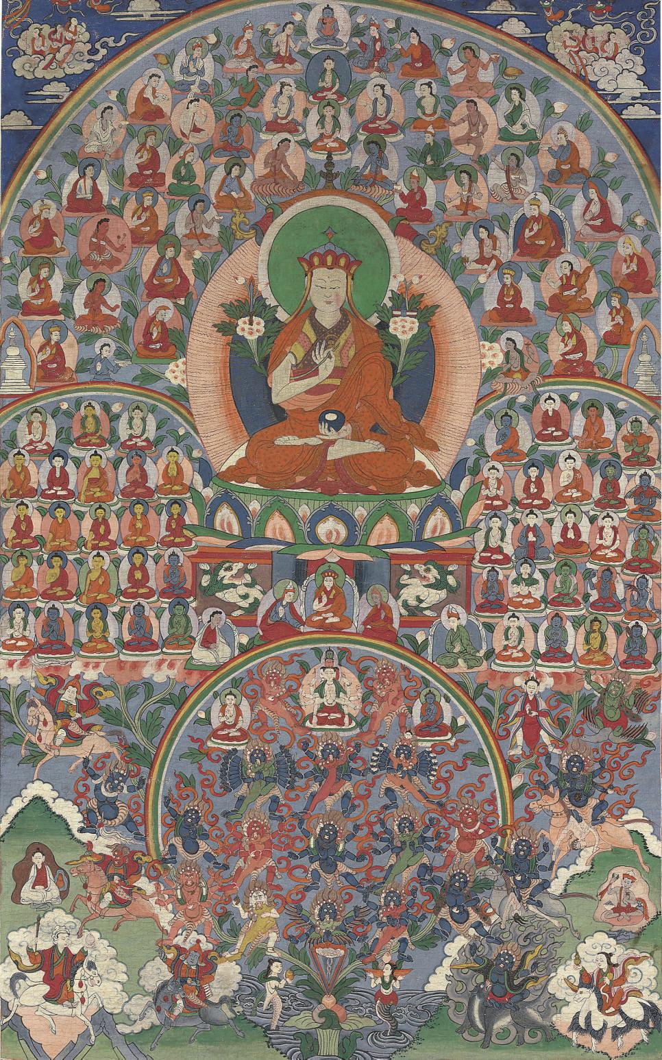 A Thangka of Lama Nyamme Shera
