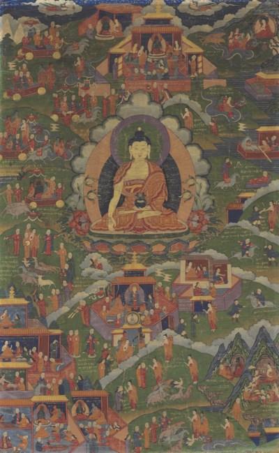 A Thangka of Tonpa Shenrab