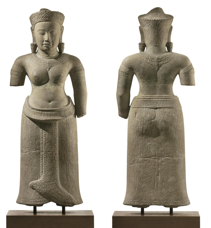 A sandstone figure of Uma
