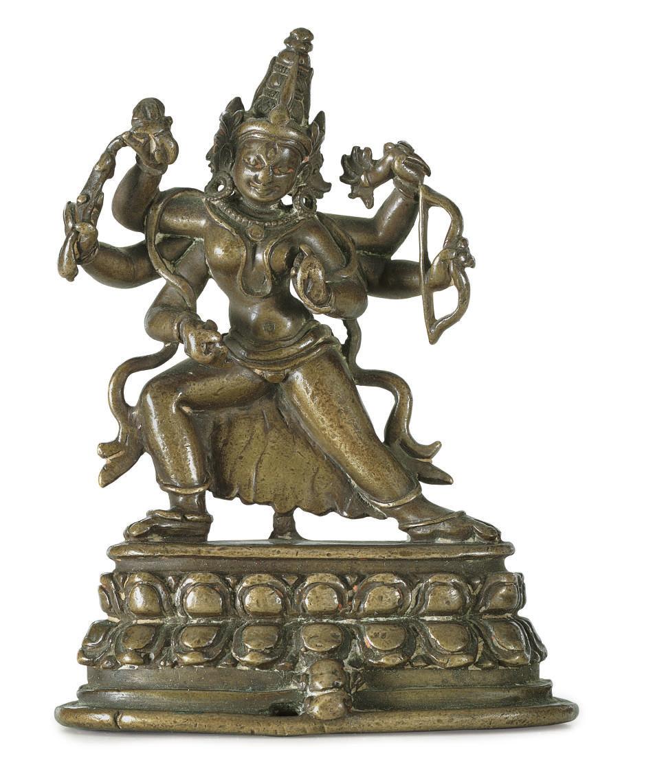 A bronze figure of Marici