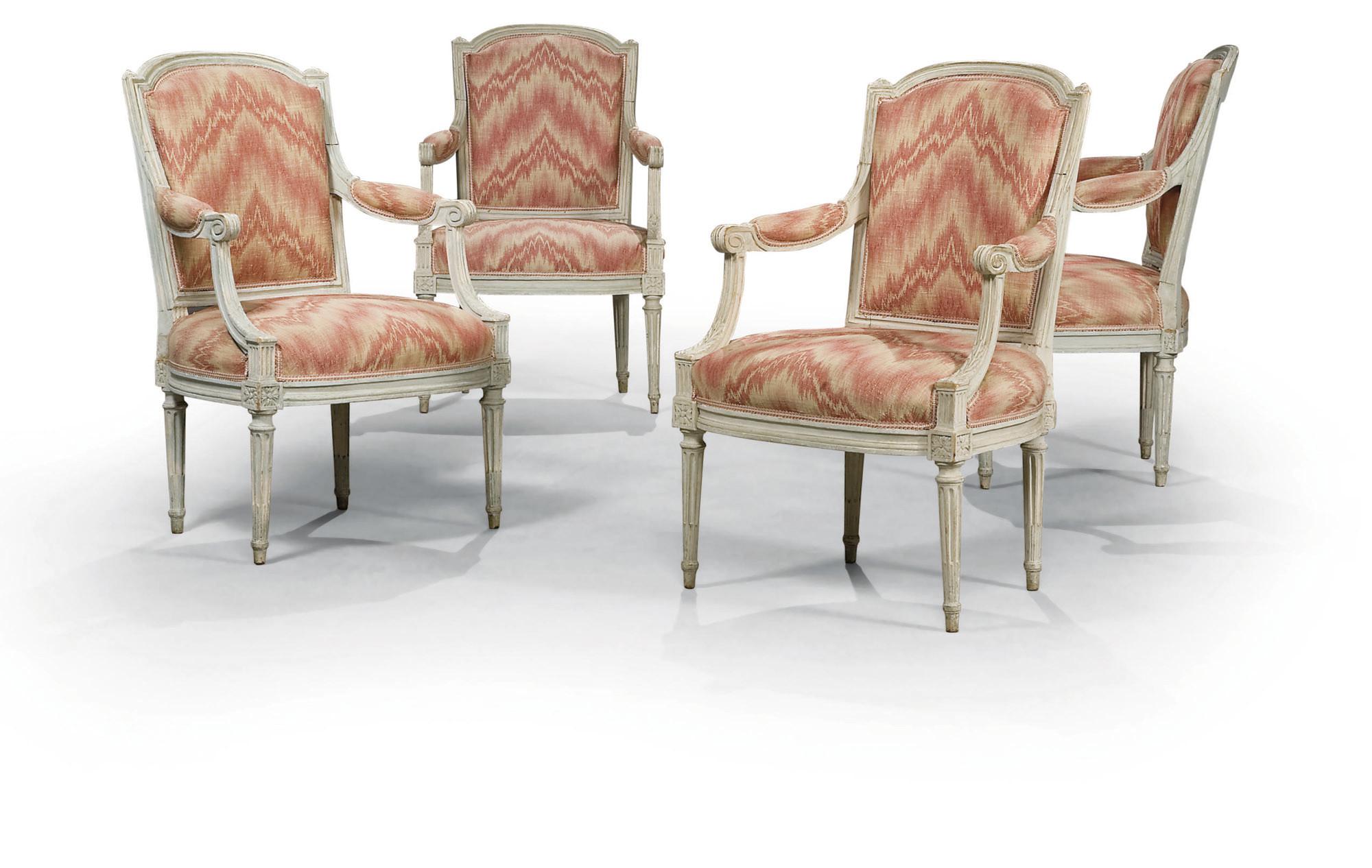 mobilier de salon d 39 epoque louis xvi estampille george. Black Bedroom Furniture Sets. Home Design Ideas