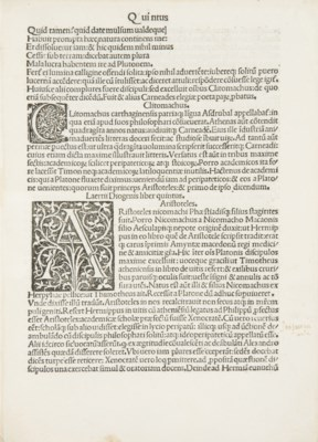 [INCUNABLE] -- DIOGÈNE LAERCE