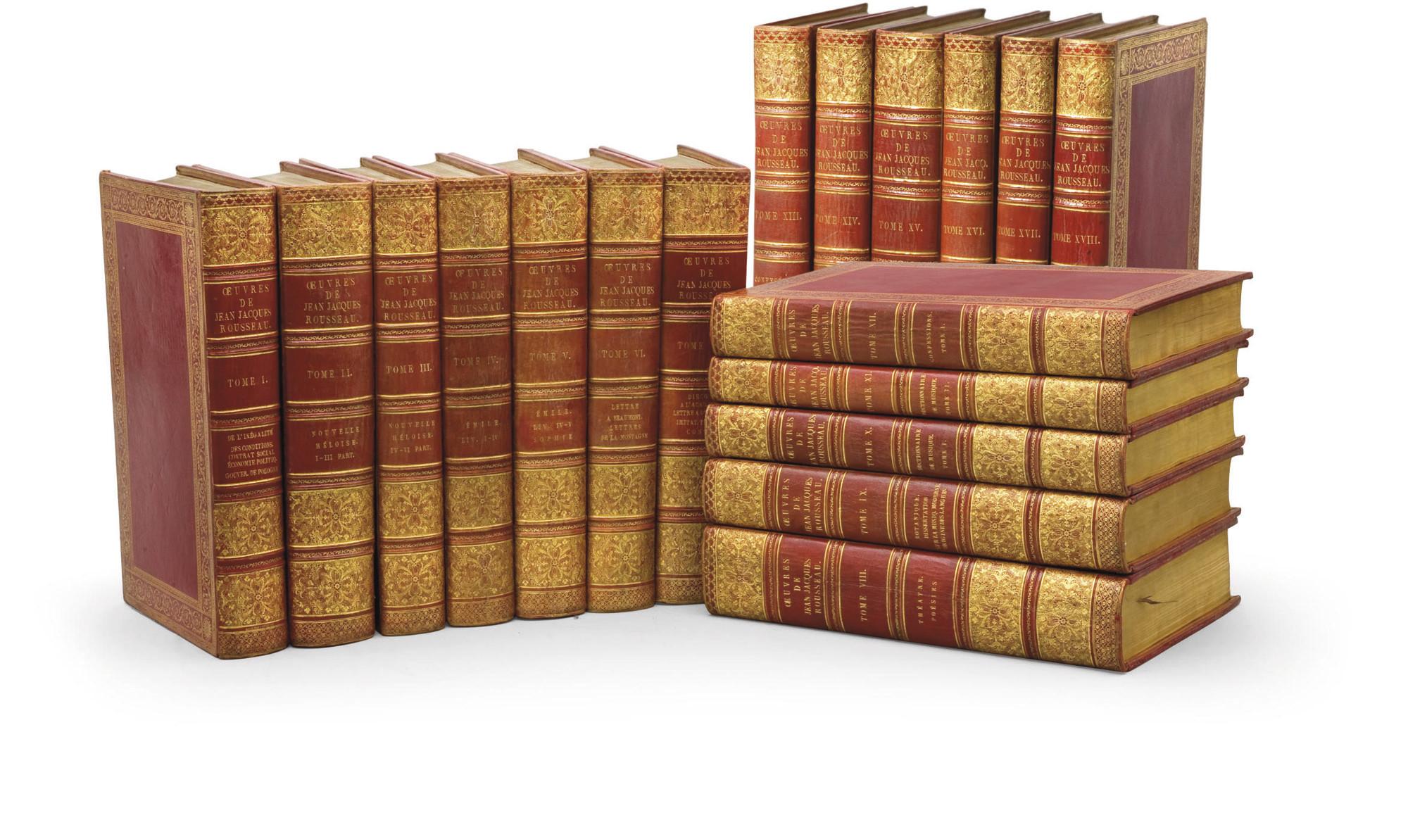 ROUSSEAU, Jean-Jacques (1712-1778). Oeuvres. Paris: chez Defer de Maisonneuve, de l'imprimerie de Didot le Jeune, 1793-1800.