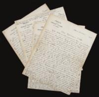 CLAUDEL, Paul (1868-1955). Correspondance entre Paul Claudel et l'abbé Jacques Douillet (1893-1974) comprenant 9 lettres autographes signées de Paul Claudel (dont 7 avec enveloppe) et 3 de l'abbé Douillet (minutes). Mai 1919 à août 1922.
