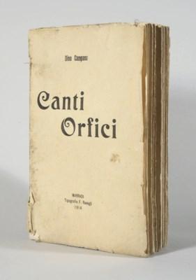CAMPANA, Dino (1885-1932). Can