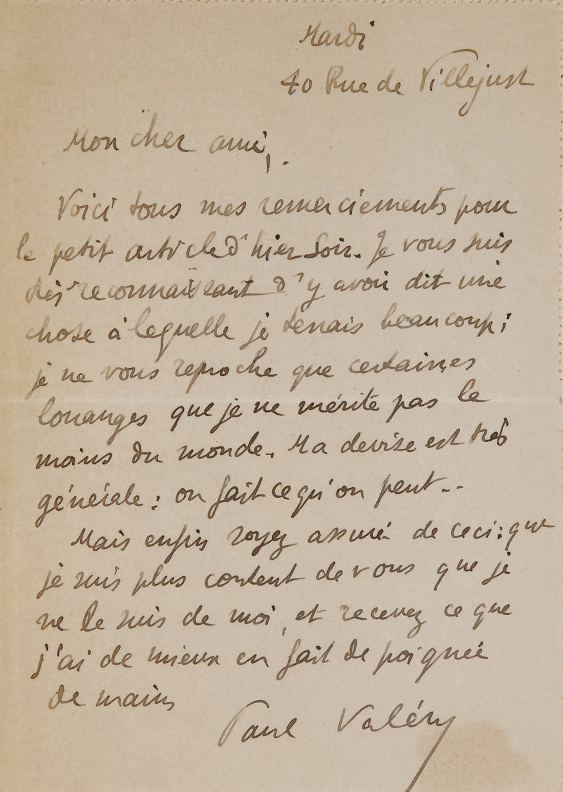 VALÉRY, Paul (1871-1945). Le C