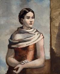 Femme au châle blanc