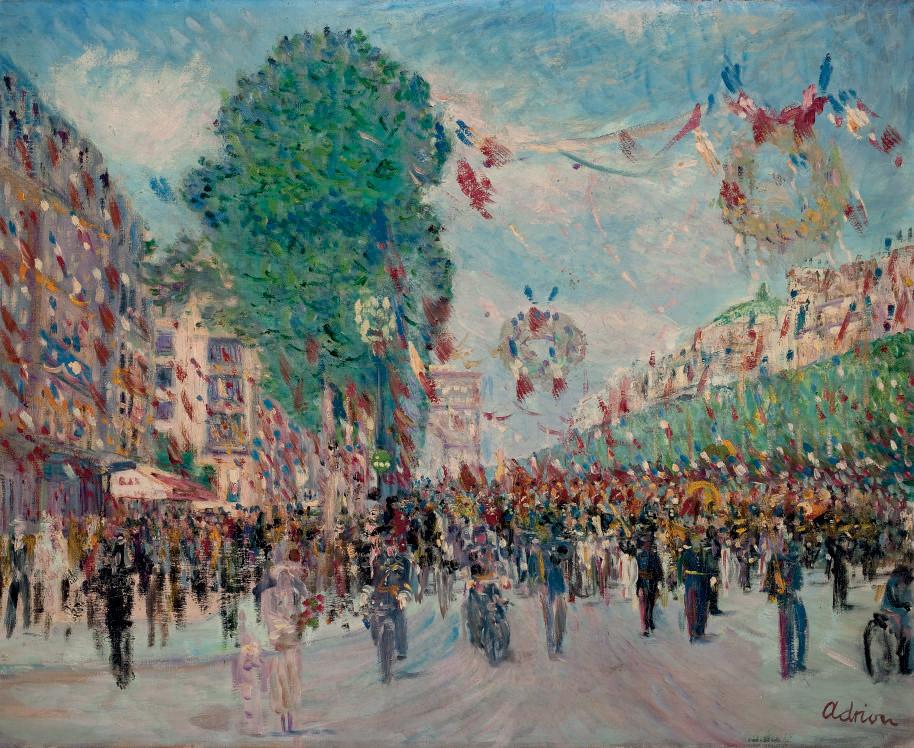 Le défilé du 14 juillet sur les Champs Elysées