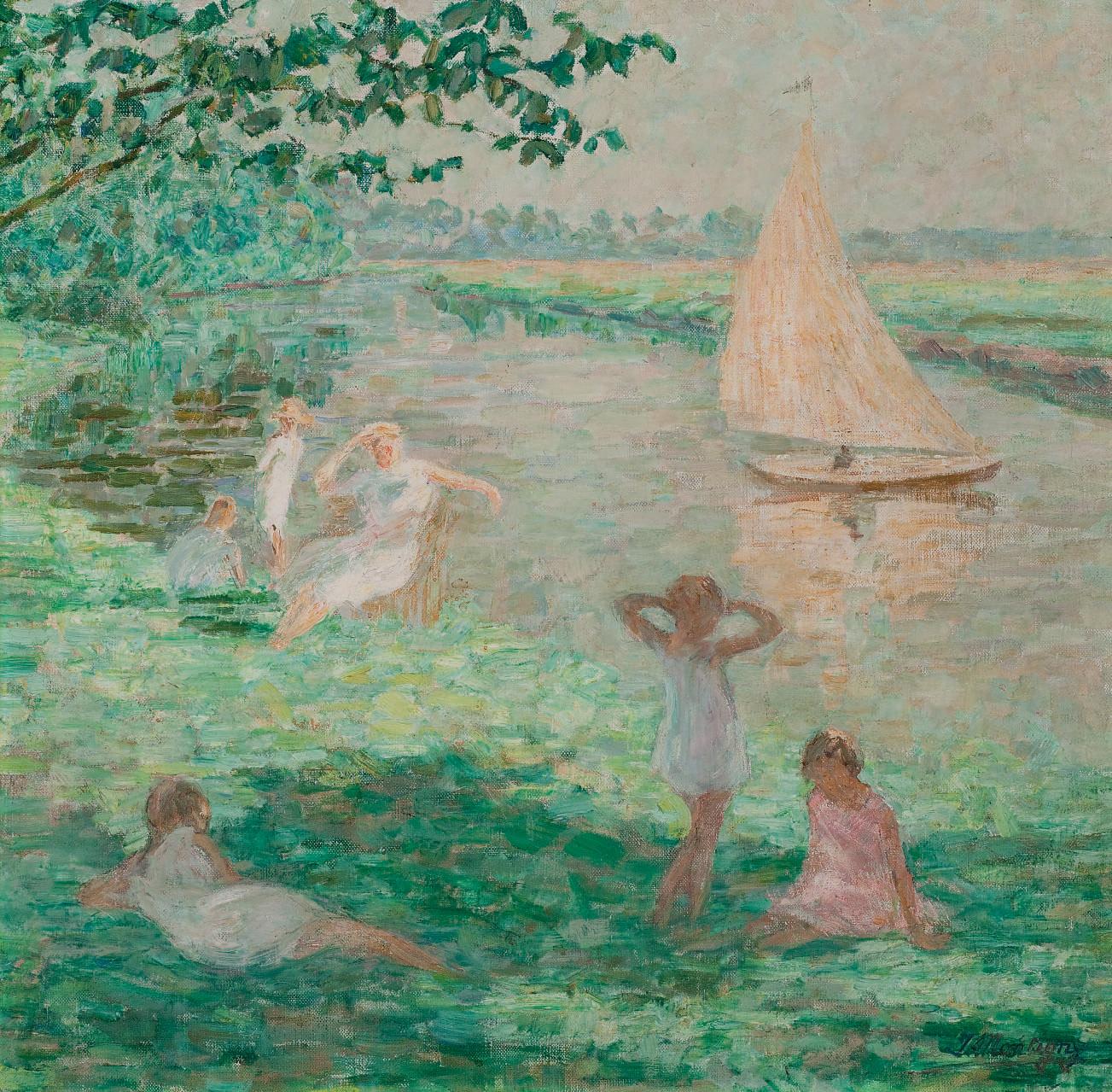 Jeunes filles au bord de la Lys