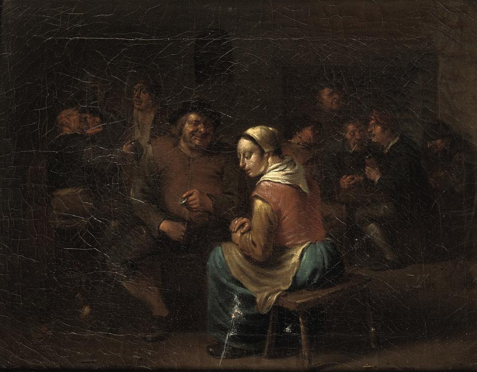Boors making merry in an inn
