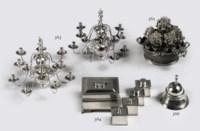 A Dutch silver miniature table bell