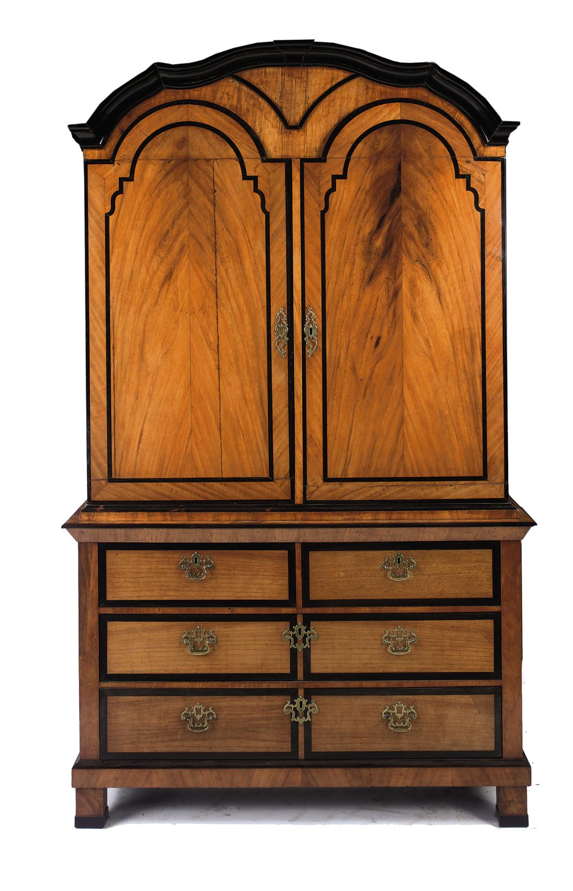 A DUTCH COLONIAL PADOUK AND EBONY CABINET