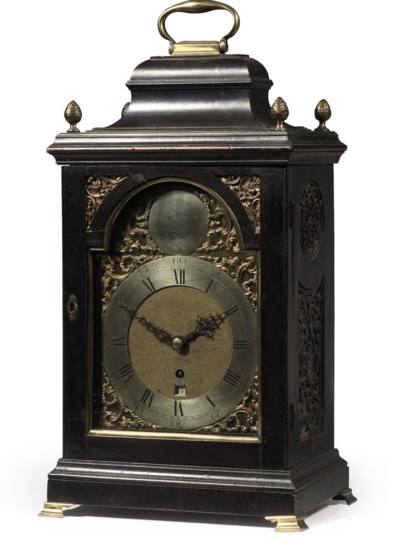 A GEORGE III TABLE CLOCK