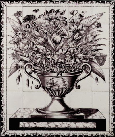 A Dutch Delftware manganese re