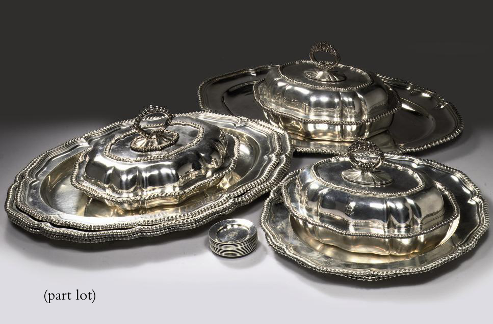 Pair Of American Silver Serving Dishes