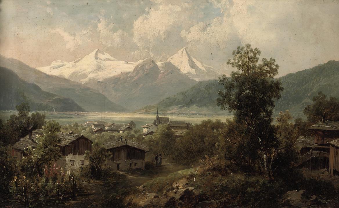 A village in Fügen, Zillerthal, Austria