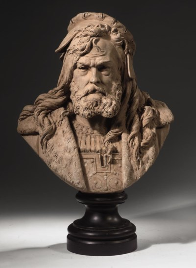 A FRENCH TERRACOTTA BUST OF AL