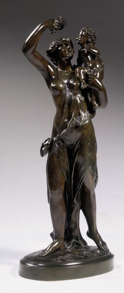 A FRENCH BRONZE GROUP ALLEGORI