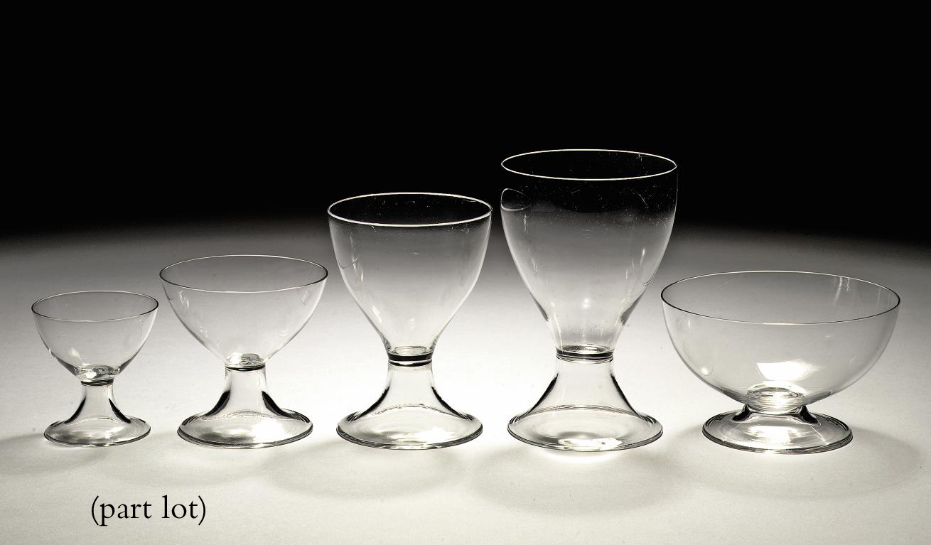 A clear glass part drinking service, 'Cyrano'
