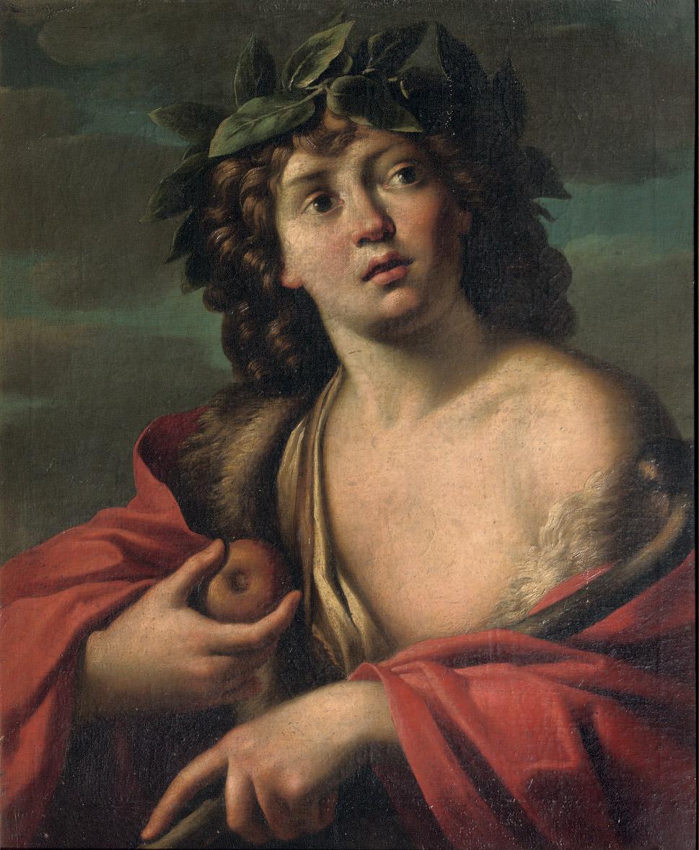 Paris holding the golden apple