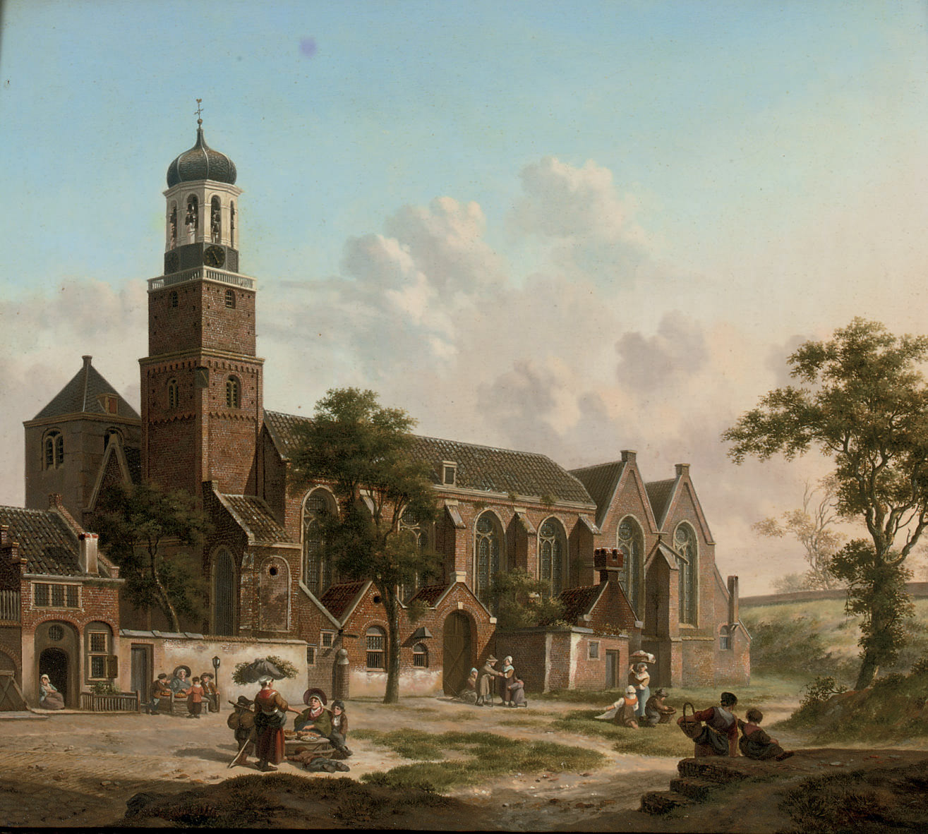 Townspeople near the Nicolaïkerk, Utrecht