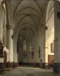 A sunlit church interior, St. Bavo Haarlem