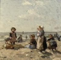 Children on the Beach at Scheveningen