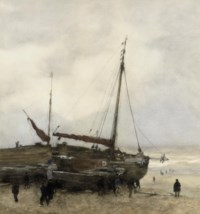 Fishing Boats on the Beach at Scheveningen