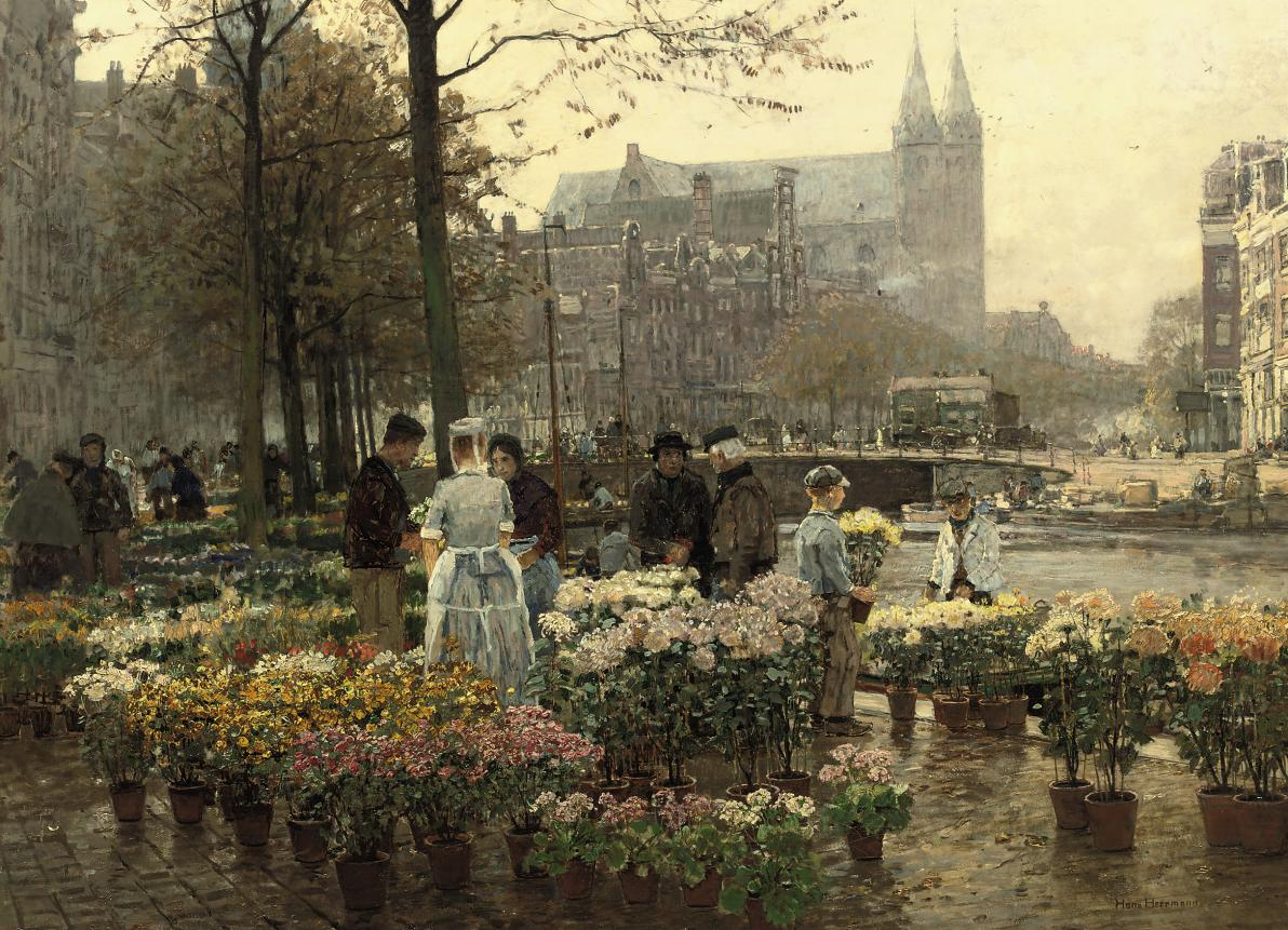 Selling Flowers on the Flower Market, Amsterdam