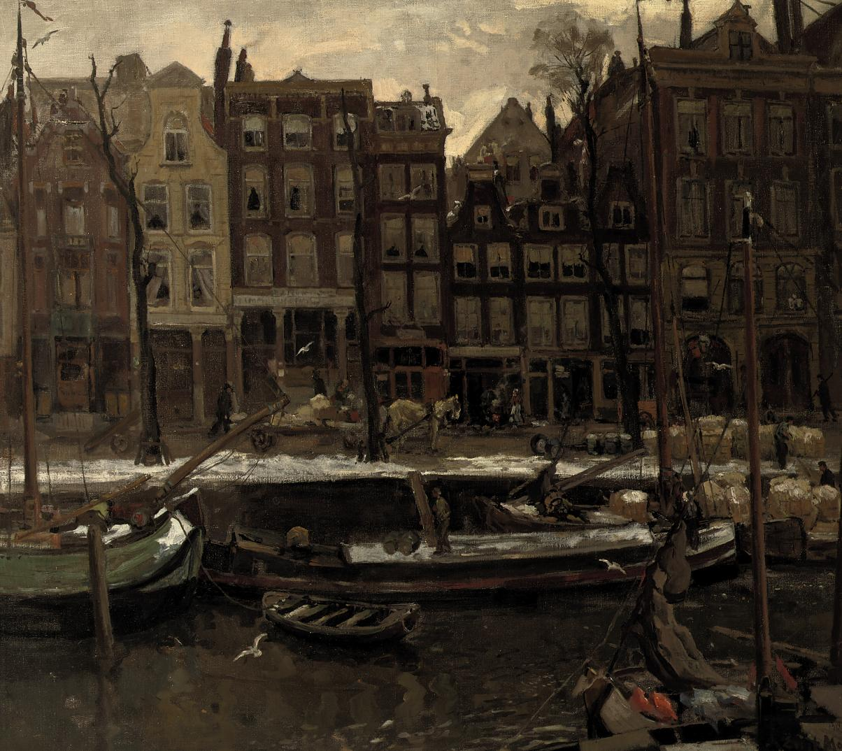 A canal scene in winter