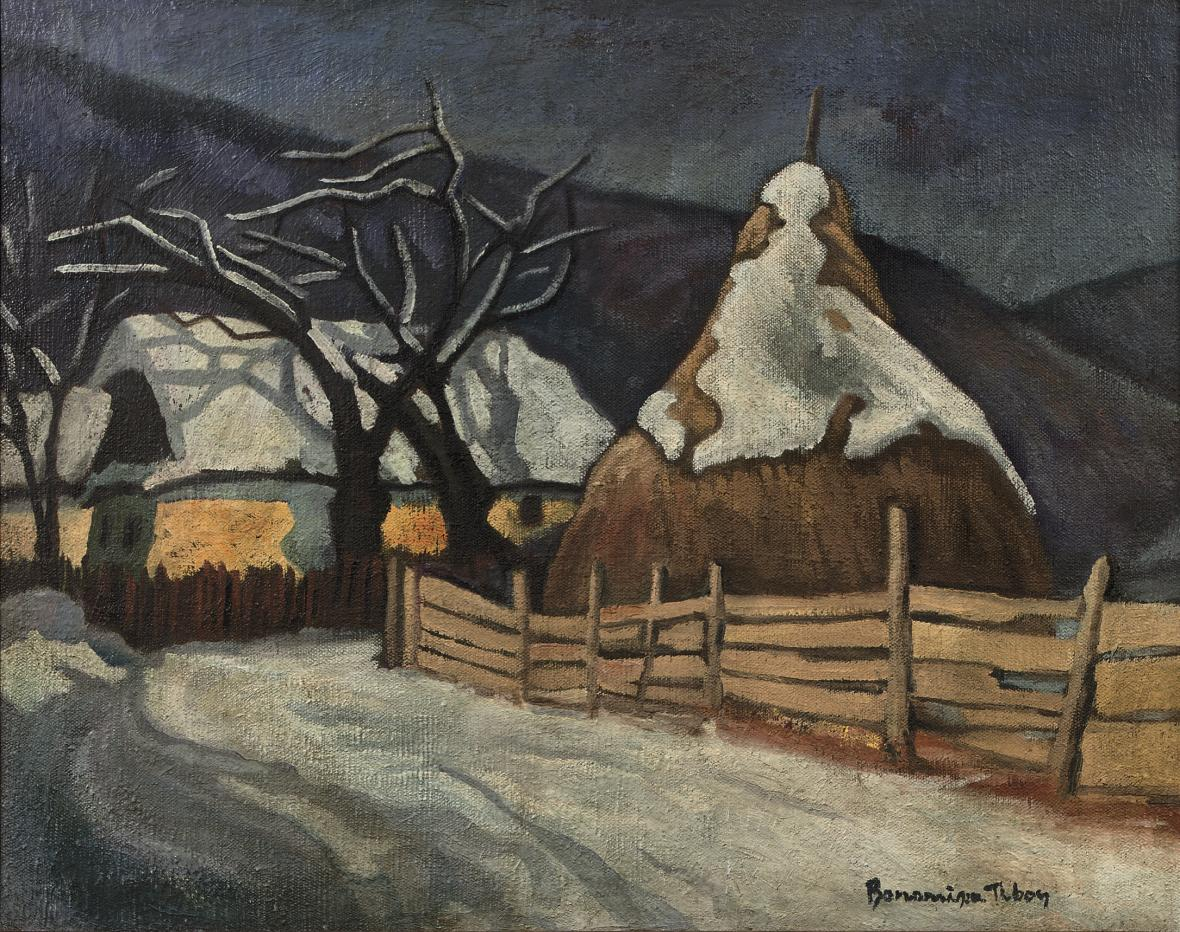 A Haystack in Winter