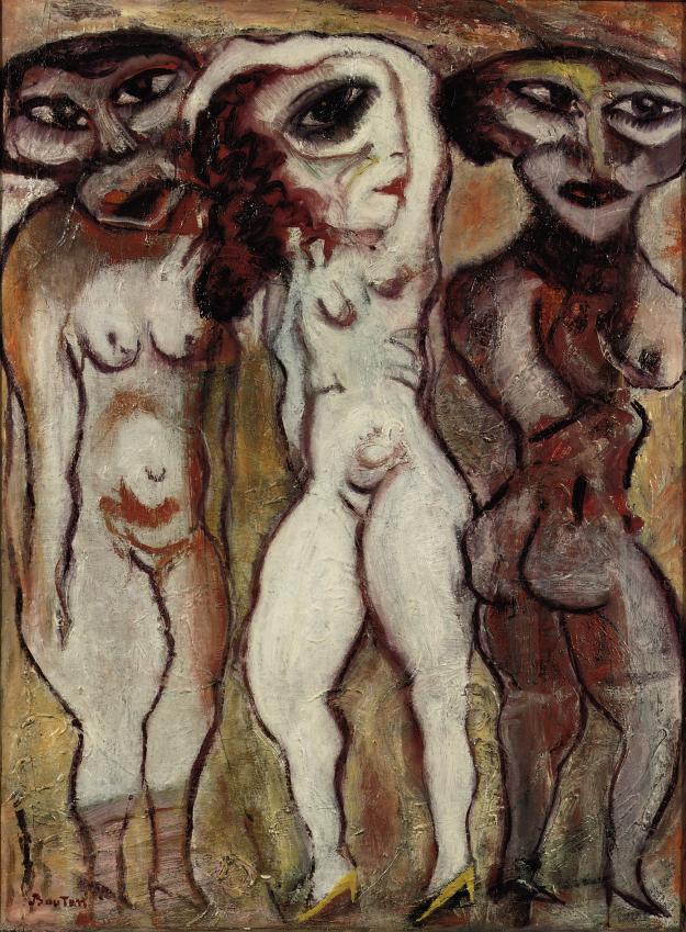 Three Female Figures