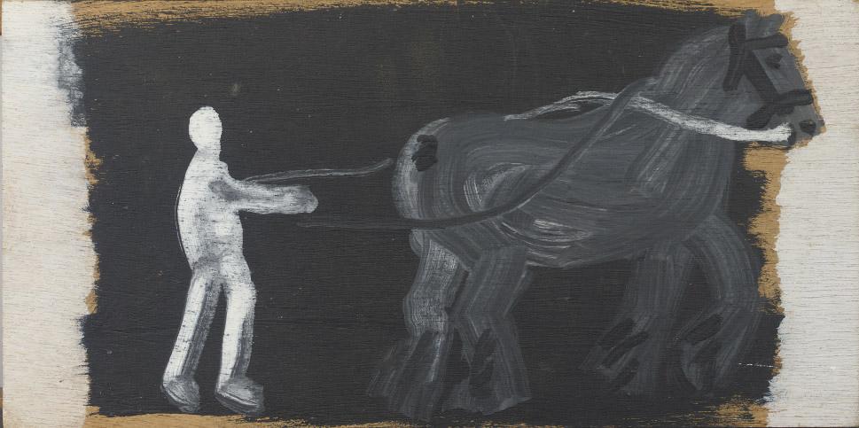 Paard en boer