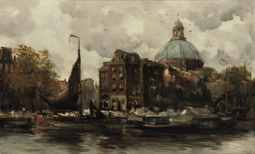 The Koepelkerk along the Singel, Amsterdam