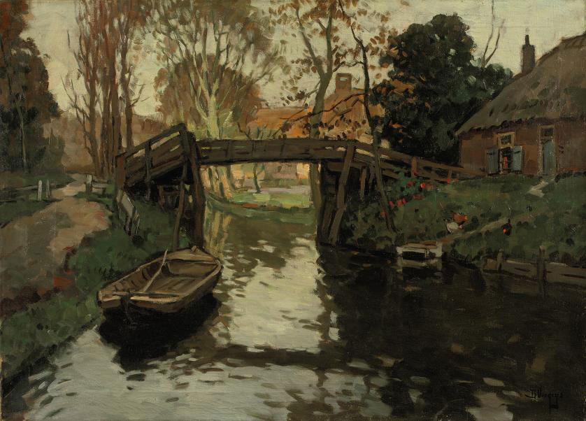 Canal in summer, Giethoorn