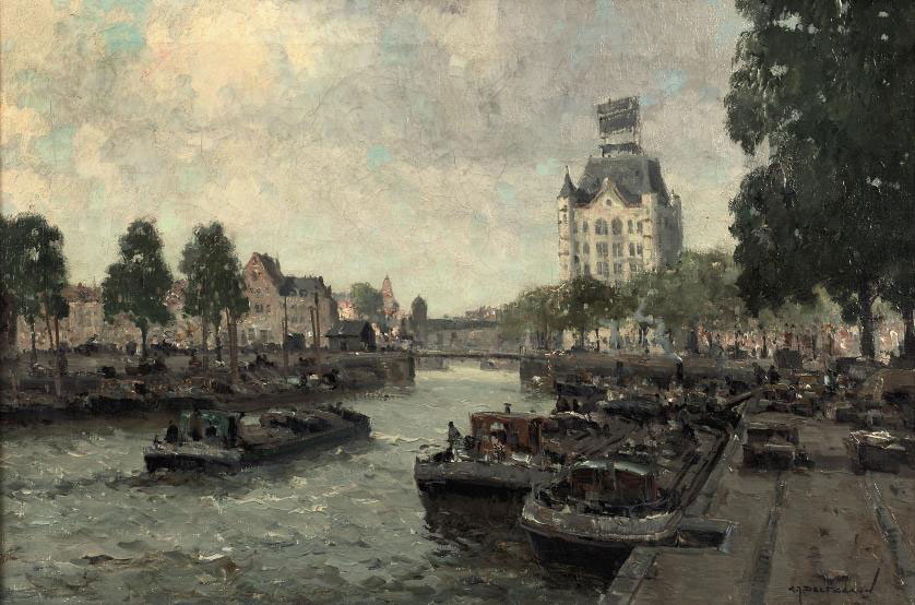 A view of the Witte Huis, Rotterdam